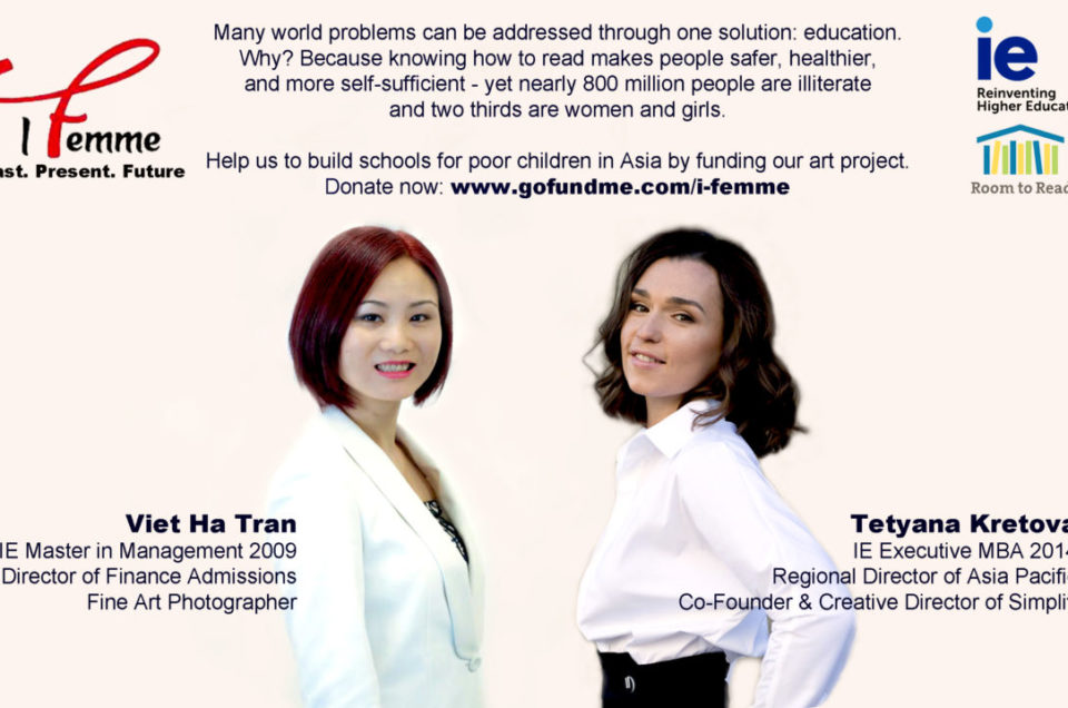 IE Business School alumnae fundraising for art charity project for girls´education